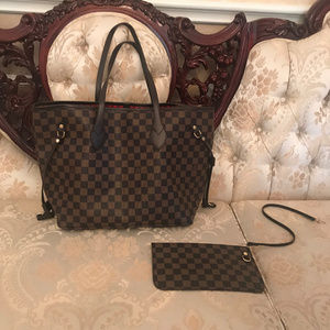 Louis Vuitton Dupe Neverfull Damier Tote Bag